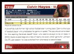 2004 Topps Traded #215 T  -  Calvin Hayes First Year Back Thumbnail