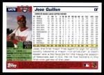 2005 Topps Update #79  Jose Guillen  Back Thumbnail