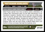 2005 Topps Update #129  Albert Pujols   Back Thumbnail