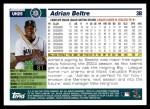 2005 Topps Update #25  Adrian Beltre  Back Thumbnail