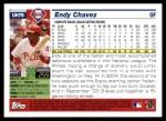 2005 Topps Update #78  Endy Chavez  Back Thumbnail