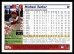 2005 Topps Update #4  Michael Tucker  Back Thumbnail