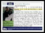 2005 Topps Update #306  Franklin Morales   Back Thumbnail