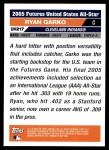 2005 Topps Update #217  Ryan Garko  Back Thumbnail