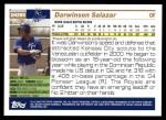 2005 Topps Update #289  Darwinson Salazar   Back Thumbnail