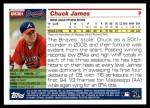2005 Topps Update #301  Chuck James   Back Thumbnail