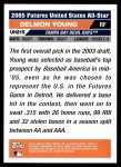 2005 Topps Update #215  Delmon Young  Back Thumbnail