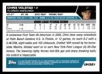 2005 Topps Update #321  Chris Volstad  Back Thumbnail