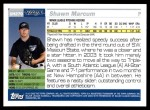 2005 Topps Update #270  Shaun Marcum  Back Thumbnail
