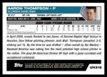 2005 Topps Update #315  Aaron Thompson  Back Thumbnail