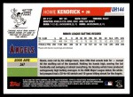 2006 Topps Update #144  Howie Kendrick  Back Thumbnail