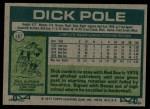 1977 Topps #187  Dick Pole  Back Thumbnail