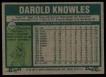 1977 Topps #169  Darold Knowles  Back Thumbnail