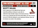 2006 Topps Update #255   -  Scott Rolen All-Star Back Thumbnail