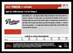2006 Topps Update #172   -  Mike Piazza Season Highlights Back Thumbnail