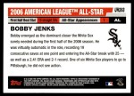2006 Topps Update #268   -  Bobby Jenks All-Star Back Thumbnail