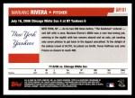 2006 Topps Update #181   -  Mariano Rivera Season Highlights Back Thumbnail