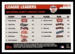 2006 Topps Update #216   -  Aaron Harang / Jake Peavy / John Smoltz Leaders Back Thumbnail