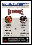 2006 Topps Update #295   -  Alfonso Soriano / Alfonso Soriano Nationals Team Leaders Back Thumbnail