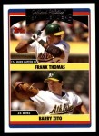 2006 Topps Update #317   -  Frank Thomas / Barry Zito Athletics Team Leaders Front Thumbnail