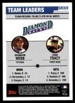 2006 Topps Update #305   -  Brandon Webb / Chad Tracy Diamondbacks Leaders Back Thumbnail
