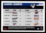 2006 Topps Update #209   -  Francisco Rodriguez / Bobby Jenks / Brendan Ryan Leaders Back Thumbnail