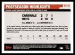 2006 Topps Update #192   -  Jose Reyes Postseason Highlights Back Thumbnail