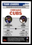 2006 Topps Update #301   -  Carlos Zambrano / Juan Pierre Cubs Team Leaders Back Thumbnail