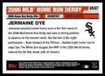 2006 Topps Update #287  Jermaine Dye  Back Thumbnail