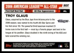 2006 Topps Update #267   -  Troy Glaus All-Star Back Thumbnail