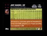 2007 Topps Update #143  Jeff Baker  Back Thumbnail