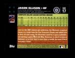 2007 Topps Update #17  Jason Ellison  Back Thumbnail