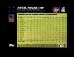 2007 Topps Update #65  Angel Pagan  Back Thumbnail