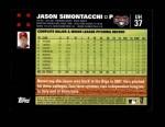 2007 Topps Update #37  Jason Simontacchi  Back Thumbnail
