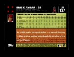 2007 Topps Update #137  Erick Aybar  Back Thumbnail