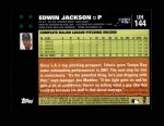 2007 Topps Update #144  Edwin Jackson  Back Thumbnail