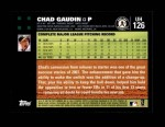 2007 Topps Update #126  Chad Gaudin  Back Thumbnail