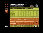 2007 Topps Update #93  Chris Sampson  Back Thumbnail