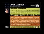 2007 Topps Update #154  Jesse Litsch  Back Thumbnail