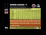 2007 Topps Update #105  Ramon Castro  Back Thumbnail