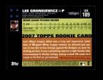 2007 Topps Update #189  Lee Gronkiewicz  Back Thumbnail