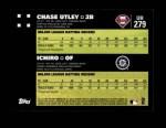 2007 Topps Update #279  Chase Utley  Back Thumbnail