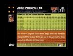 2007 Topps Update #311  Josh Phelps  Back Thumbnail