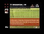 2007 Topps Update #319  Ty Wigginton  Back Thumbnail