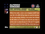 2007 Topps Update #263  Alfonso Soriano  Back Thumbnail