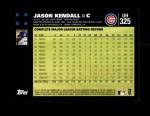 2007 Topps Update #325  Jason Kendall  Back Thumbnail