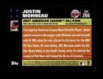 2007 Topps Update #266  Justin Morneau  Back Thumbnail