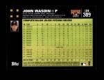 2007 Topps Update #309  John Wasdin  Back Thumbnail