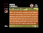 2007 Topps Update #239  Mike Lowell  Back Thumbnail