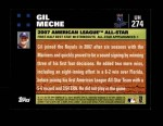 2007 Topps Update #274  Gil Meche  Back Thumbnail